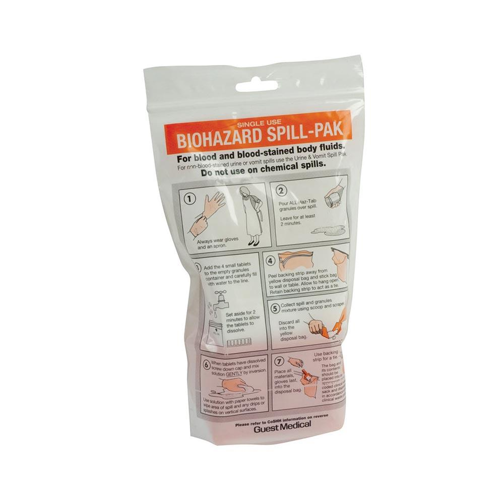 Biohazard Spill Paks Urine and Vomit Spill Pak with Super absorbant Pad